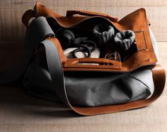 Hard Graft Square1 Leather Holdall