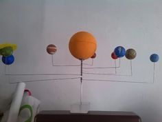 Como se hace un planetario fácil y barato.Planets & Solar System for kids School Education - YouTube