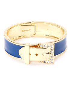 Another great find on #zulily! Gold & Navy Ava Bangle #zulilyfinds