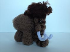 Handmade Crochet Wooly Mammoth 7 inches by BellasLittleBlooms, $40.00