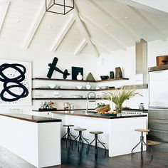 Open Beach Kitchen - Editors' 50 Favorite Coastal Rooms - Coastal Living
