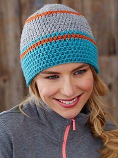 Go Snow Toque - Free crochet pattern in 5 versions by Bernat Design Studio at Yarnspirations.