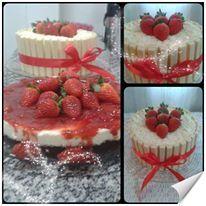Cheese cake and white chocolate cake