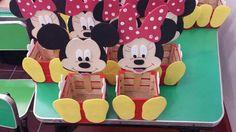 Dulceros o lapiceros de Mickey y Minnie Mouse.