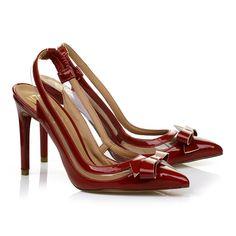 Chanel salto alto Verniz Carmim - UZA Shoes