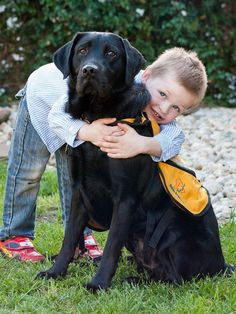 James and his Labrador Winter are inseparable. Winter is an Autism Assistance Dog. (Image: Supplied/Brenton King) #dogs #AutismAssistanceDog