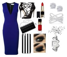"""""""Lady in Blue"""" by ankita23579 ❤ liked on Polyvore featuring Dolce&Gabbana, Victoria Beckham, Effy Jewelry, L'Oréal Paris and Gucci"""
