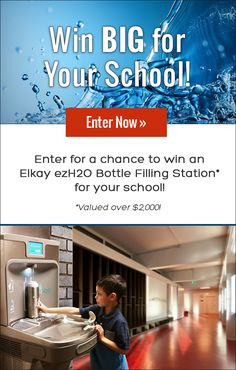 Enter to win an ezH2O Bottle Filling Station from Elkay and VolunteerSpot! Ends 4/26/16