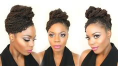 Twisted Updo with a Sweeping Bang Loc Hairstyle Tutorial 2016/Jungle Barbie