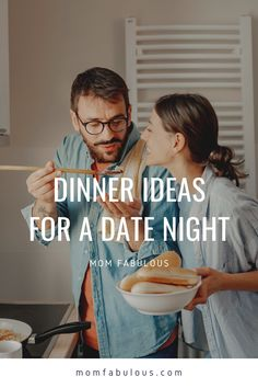 When it comes to date night, more people are opting to stay in than go out these days, but that doesn't mean you can't still have an awesome time. Which is exactly why we've created a roundup of fun dinner ideas for your next date night in. #MomLife #MomFabulous #Mom #datenight #couples #coupleideas #date