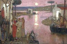 Evening Idyll by Frederick Cayley Robinson (1862-1927), England, c1910