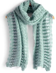 (4) Name: 'Crocheting : BROOMSTICK LACE SCARF