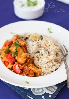Cooking With Siri: {Recipe} Paneer Jalfrezi (Indian Cottage Cheese with Mixed Vegetables) with Home-made Coconut Milk Fried Rice