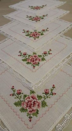 This Pin was discovered by Lal Just Cross Stitch, Beaded Cross Stitch, Cross Stitch Flowers, Cross Stitch Embroidery, Hand Embroidery, Cross Stitch Patterns, Embroidery Designs, Crochet Patterns, Ribbon Work