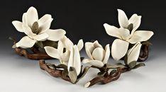 Деревянные цветы Denise Nielsen and George Worthington