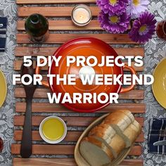 5 DIY Projects For The Weekend Warrior #wood #mat #seating #DIY
