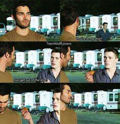 Too funny! They have so much fun! Tyler Hoechlin and Colton Haynes Teen Wolf