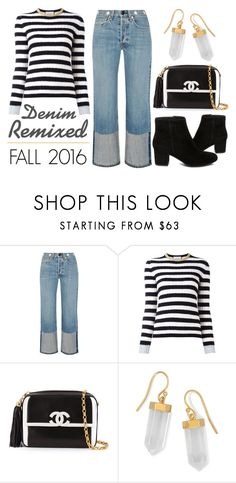 """Denim Remixed - Fall 2016"" by latoyacl ❤ liked on Polyvore featuring rag & bone, Gucci, Chanel, BillyTheTree and Steve Madden"