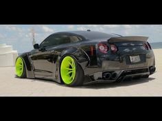 [4k] GT-R R35 Black Edition! ARMYTRIX Exhaust | Bagged | Liberty Walk by XN WORKS - YouTube