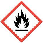 GHS Safety: Flame Hazard Pictogram Label, 4 x 4 (Pack of Hazard Communication, Hazard Symbol, Aerosoles, Dangerous Goods, Safety Posters, Safety Quotes, Vinyl Labels, Starter Set, Setting Spray