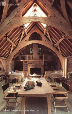 """This """"Cabin"""" almost reminds me of a Viking ship in a way! #home #decor #wood"""