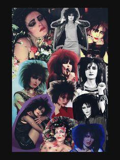 'Siouxsie Sioux -- Goth Collage The Banshees ' Premium T-Shirt by goon-squad Siouxsie Sioux, Siouxsie & The Banshees, Vintage Goth, Victorian Goth, 80s Goth, Punk Goth, Gothic Rock, Dark Gothic, Goth Bands