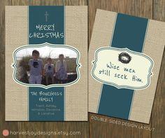 Printable Christmas Card  Photo Christmas by HarvestJoyDesigns, $14.00