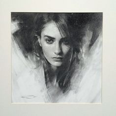 charcoals — Casey Baugh Fine Art Guache, Pastel Drawing, Painting & Drawing, Art Sketches, Portrait Sketches, Portrait Art, Pencil Portrait, Marine Deleeuw, Charcoal Drawings