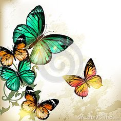 Fashion background with butterflies by Mashakotcur, via Dreamstime