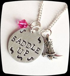 Personalized Horse Jewelry HandStamped Jewelry by ThatKindaGirl, $18.00