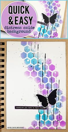 Quick & Easy Art Journal Page with Distress Oxide Inks ♥ Mixed Media Art Journal With Me