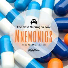 NurseMonics: Mnemonics & Acronyms for Nursing School @ iStudentNurse.com | Cardiovascular, Critical Care, Diabetes/Endocrine, Electrolytes, Fundamentals, Hepatic (Liver), Home Health/Hospice, Musculoskeletal, Neurological, Obstetrics/Labor and Delivery, Pediatric, Pharmacology, Psych/Mental Health, Reproductive, & Respiratory @iStudentNurse #NurseHacks #NurseMonics #mnemonics