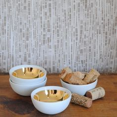 One Sydney Road Gold Lined Bowls To feel like a princess even when I am sitting in threadworn pajamas eating cereal in the mornings.