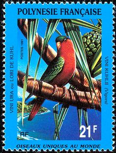 Kuhl's Lorikeet stamps - mainly images - gallery format