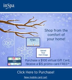 Holiday $15 Online Bonus Gift Card Offer! Available through 12/15/2014.
