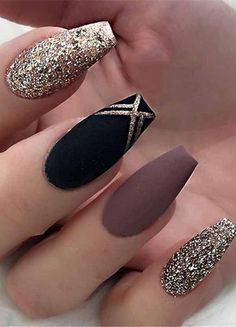 25 Most Impressive Ombre Black Long Acrylic Coffin Nails: Create Your Best . - 25 Most Impressive Ombre Black Long Acrylic Coffin Nails: Make Your Best Impression Today - Fall Acrylic Nails, Acrylic Nail Designs, Acrylic Box, Black Nail Designs, Nail Designs For Fall, Best Nail Designs, Autumn Nails, Spring Nails, Nail Art Designs