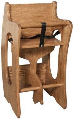 three in one oak high chair desk rocker amish furniture factory