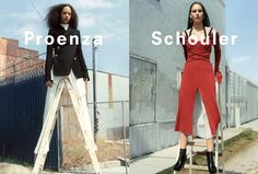 Proenza Schouler Fall 2016 Ad Campaign featuring Julia Bergshoeff and Selena Forrest photographed by Zoe Ghertner