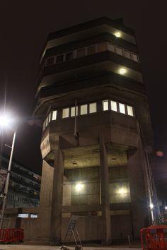 ilovebrutalism:  Wyndham Court at night. Wyndham Court, Southampton. Lyons Israel Ellis 1966-69