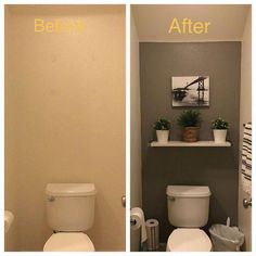 Half Bathroom Ideas Small Decor Powder Rooms the Conspiracy apikhome com is part of Small half bathrooms - Toilet Room Decor, Small Toilet Room, Half Bathroom Decor, Half Bathroom Remodel, Budget Bathroom, Bathroom Renovations, Bathroom Interior, Small Toilet Decor, Rental Bathroom