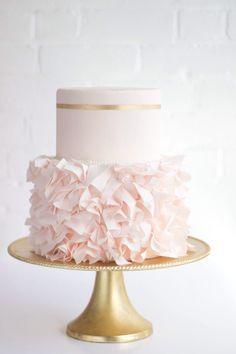 Gorgeous ruffle cake