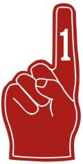 Red number one finger clip art & free football images for download - site has tons more