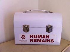 Human Remains Lunchbox or Storage Box or Purse by AsylumArtwork, $50.00
