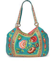 43ce24918b2c Embroidered Floral Shoulder Bag Now £15.00 Guess Handbags