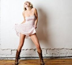 Cute Dresses to Wear With Cowboy Boots, Cowboy boots + dresses = cute outfits on Pinterest, Western Style on Pinterest, Cowgirl Style Fashion,