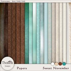 Digital Art :: Paper Packs :: SWEET NOVEMBER [Papers]