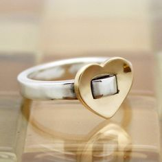 James Avery 14k Gold & Silver Golden Heart Ring Size 6.5 in Jewelry & Watches, Fine Jewelry, Fine Rings | eBay