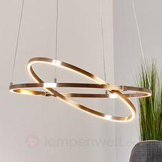 Verstellbare LED-Pendelleuchte Torna, ovale Form