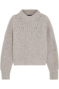 Light-gray wool, polyamide, mohair and alpaca-blend  Slips on 32% wool, 30% polyamide, 20% mohair, 18% alpaca Dry clean