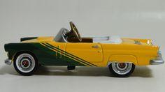 1956 Ford Thunderbird Pedal Car A Vintage Hot T Rod Midget Metal Show Model 1955